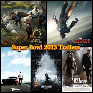 super bowl 2013 movie trailers