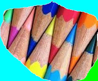 lápis colorido