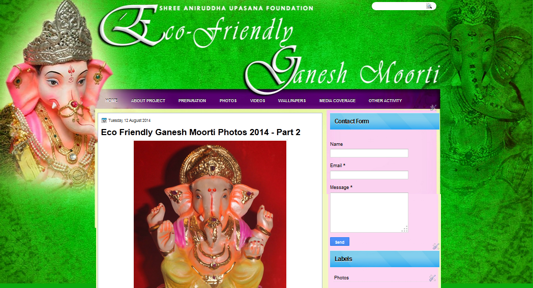 Eco Friendly Ganapati Moorti