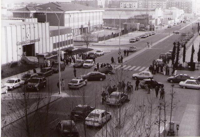 Foto antigua de Garrido. Accidente en la avenida de los Cipreses