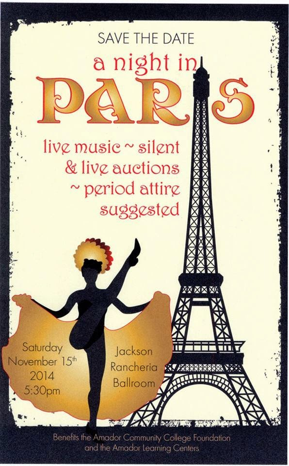 "Amador Community College Foundation: ""A Night in Paris"" - Sat Nov 15"