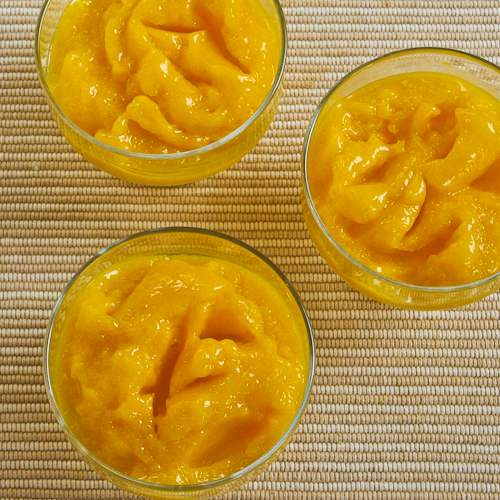 Recipe for Low-Sugar Mango Sorbet (without an ice-cream freezer ...