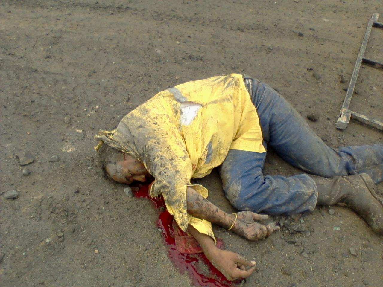 de maquinaria pesada murio tras sufrir un accidente en la mina de