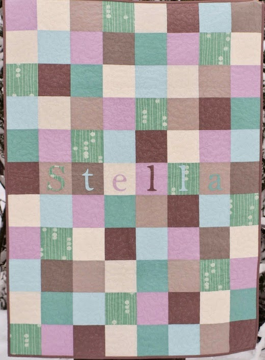 Organic Baby Name Quilt-Stella