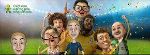 Campanha da Vivo que modelou jogadores da seleção brasileira em gráficos 3D.
