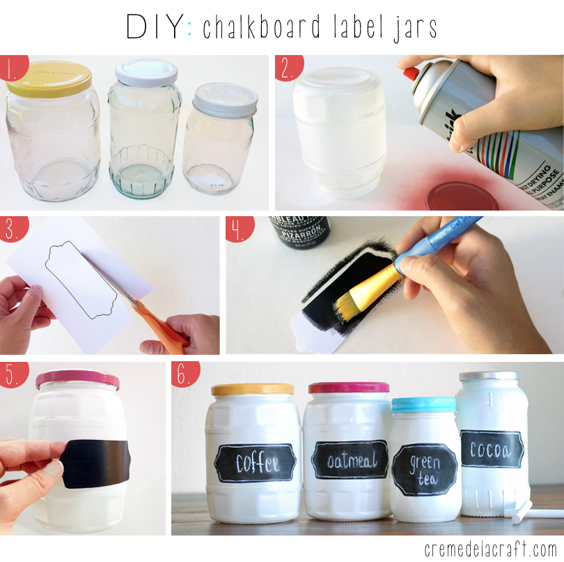 Diy chalkboard label jars for Diy paint