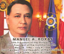 president manuel roxas essay In commemoration of the 68th death anniversary of president manuel roxas, the president manuel a roxas foundation donated the roxas statue to the national museum in.