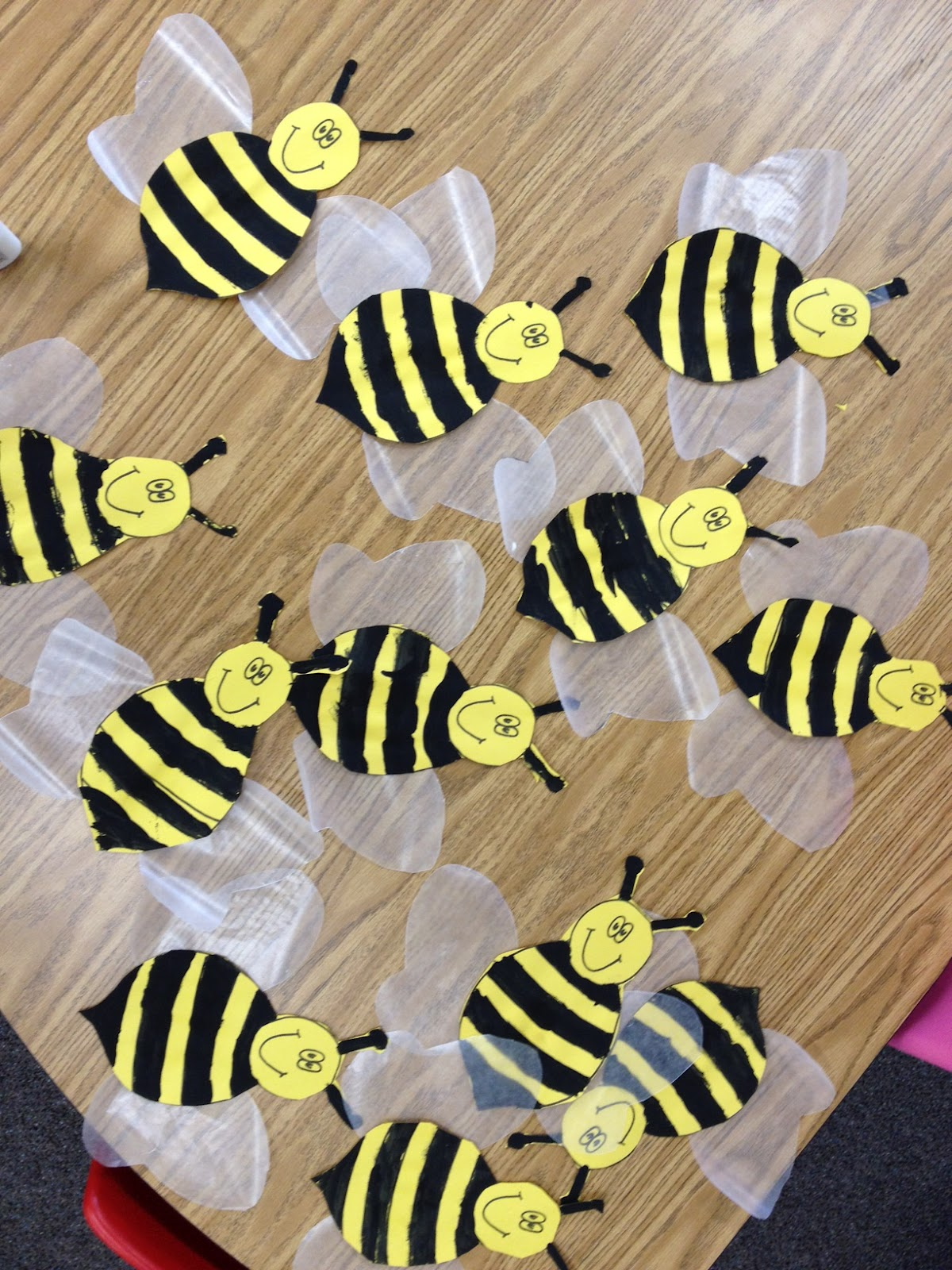 Buzzing about bees apples and abc 39 s for Plastic bees for crafts