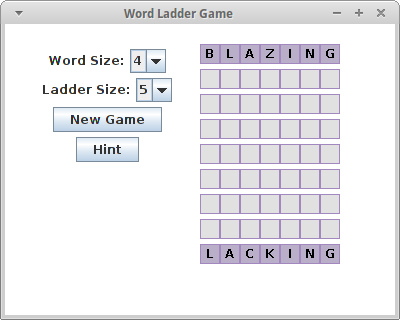 Random Thoughts: Word Ladder Puzzle Game (and Puzzle Solver)