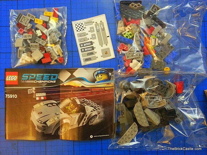 LEGO Speed Champions Porsche 918 Spyder set 75910 box contents