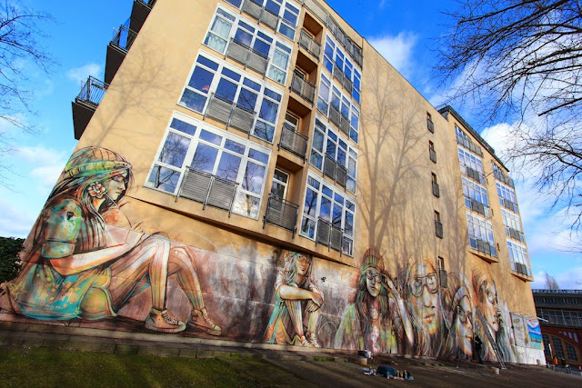 """Suspended"" a new mural by Italian street artist Alice on the streets of Berlin, Germany. 1"