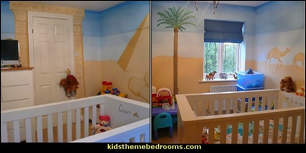 Egyptian theme baby bedroom