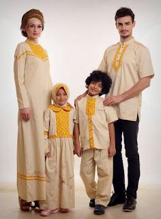 Contoh Baju Muslim Sarimbit Keluarga