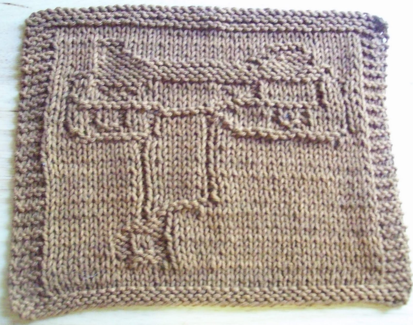 DigKnitty Designs: Horse Saddle Knit Dishcloth Pattern