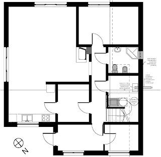 Architekt Rzeszow. Rzut parteru. Dom jednorodzinny z poddaszem użytkowym.