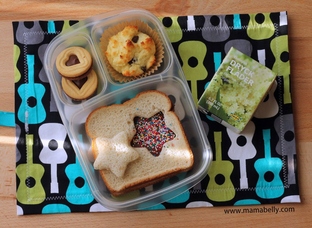A Sweet Treat School Lunch in Easylunchboxes with Matkins - mamabelly.com