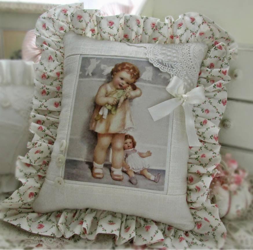Cuscino raffinato con immagine Bessie Pease