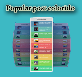 Popular Post widget colorido no Blogger