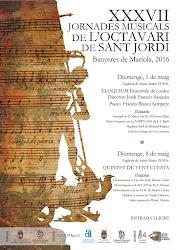 XXXVII Jornades musicals Octavari Sant Jordi,  Banyeres de Mariola (Alacant)