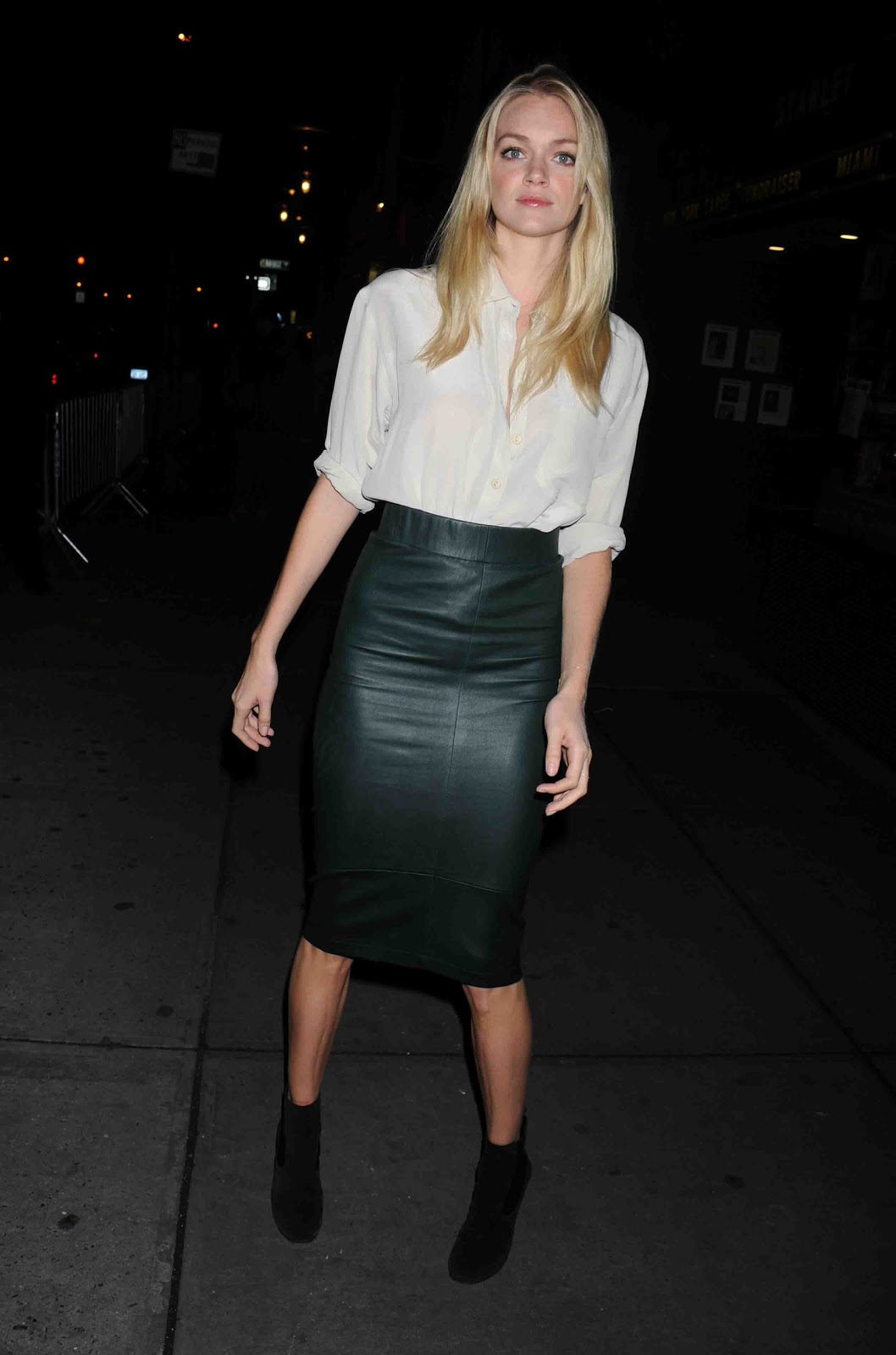 lovely in leather lindsay ellingson wearing a