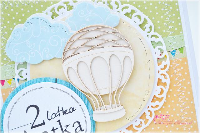 Kartka Urodzinowa z Balonem scrapbooking