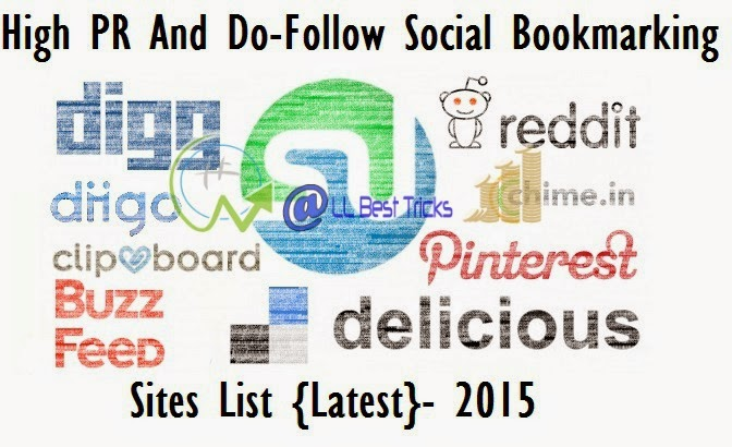 Top and free social bookmarking sites list 2015