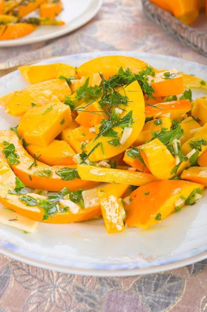 Ofen- Gemüse, Kürbis- Pommes. Edyta Guhl.
