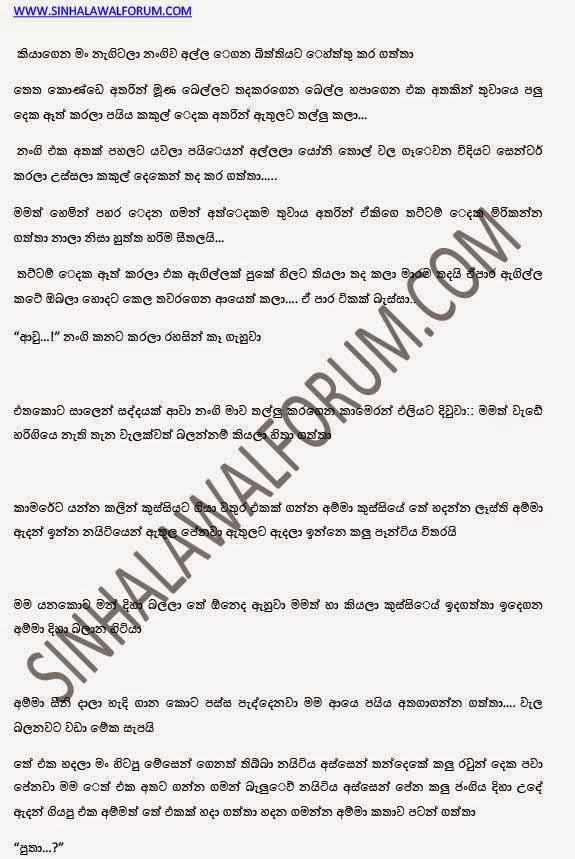 Sri Lanka Sinhala Wal Katha (SIYALUMA KATHA): ammage ...