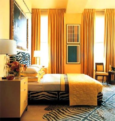 dormitorio amarillo negro