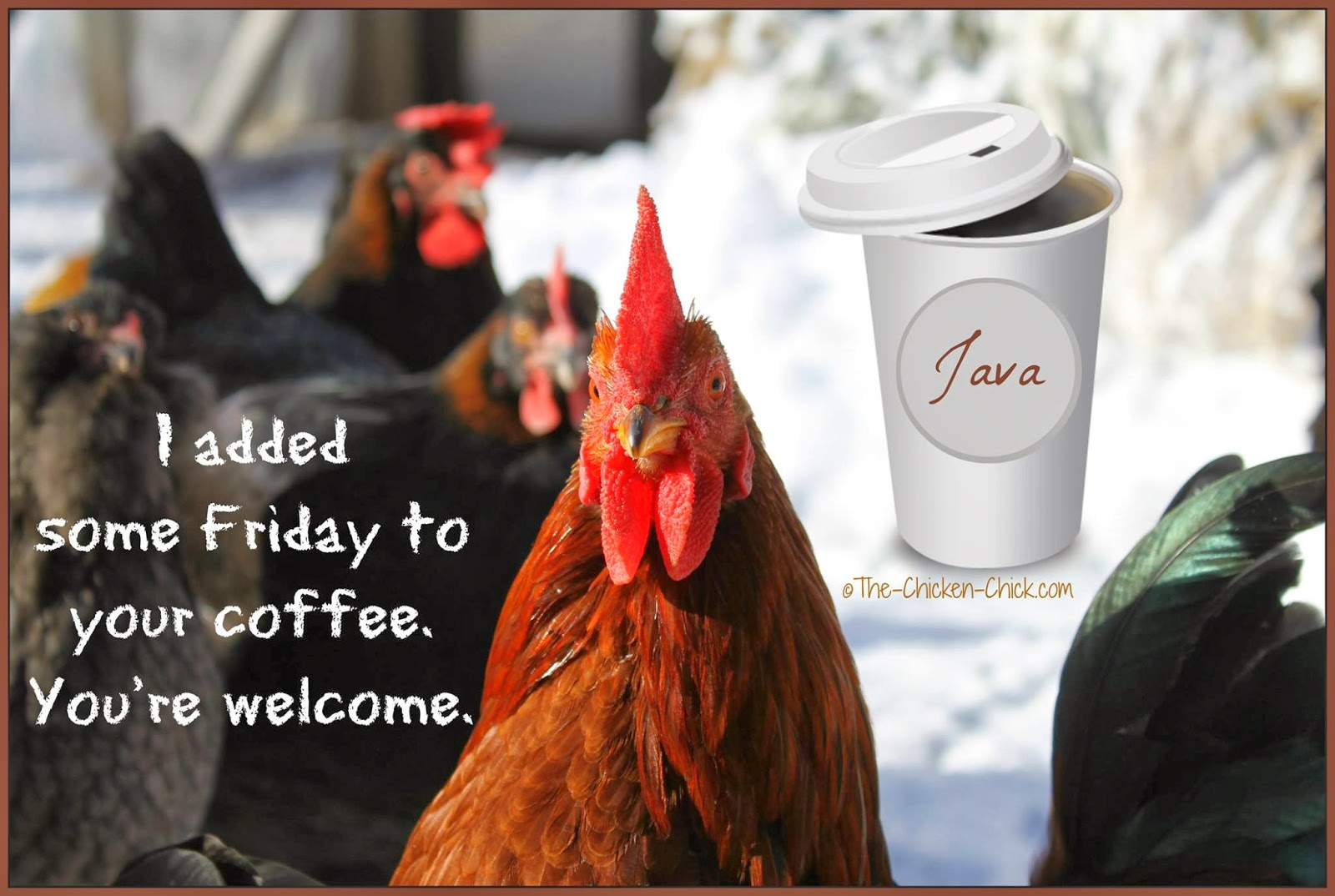 I added some Friday to your coffee. You're welcome.