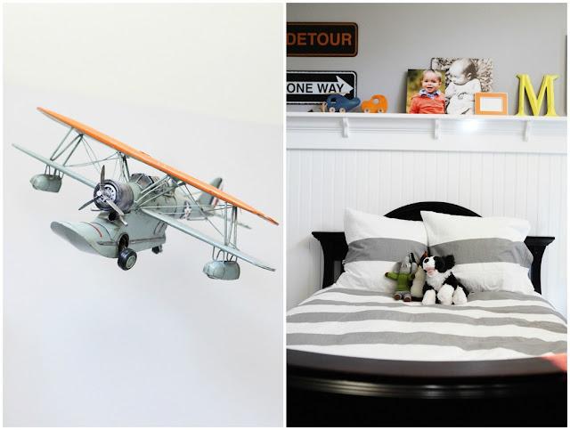 Brooke Jones Designs Grey Transporation Boys Bedroom