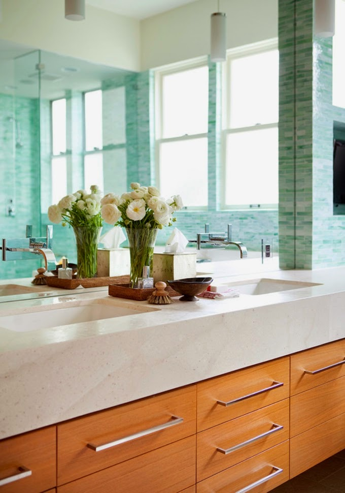 Baldosas Baño Saloni:Las baldosas del suelo, de piedra caliza climatizada, bañera profunda
