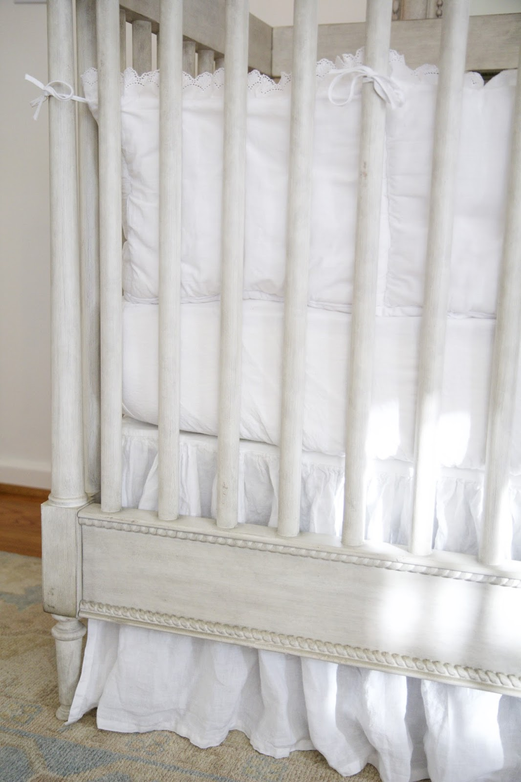 Crib Sheets And Skirt By Restoration Hardware; Baby Tools In The Nest;  Nora's Nest