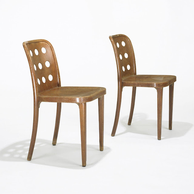 Josef Hoffmann and Oswald Haerdtl side chairs, Thonet, Austria, c. 1928