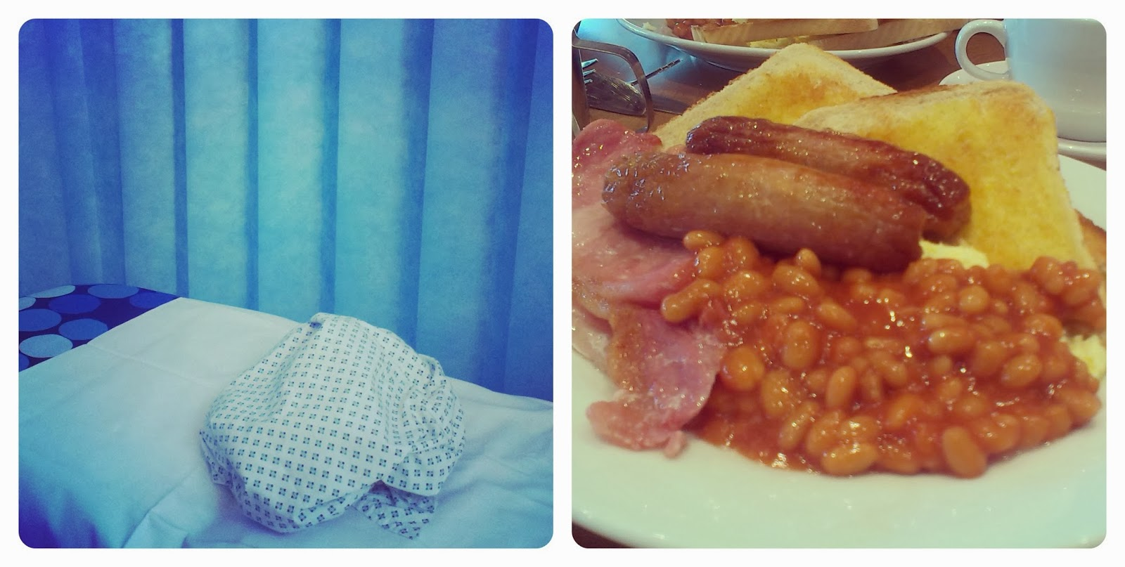 Hospital bed - Fried breakfast