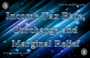 Income Tax Rate, Surcharge and Marginal Relief