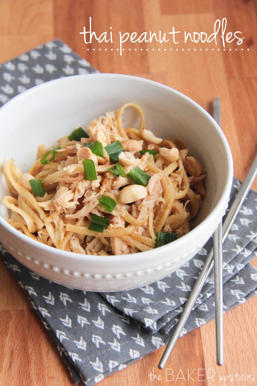 the baker upstairs: thai peanut noodles