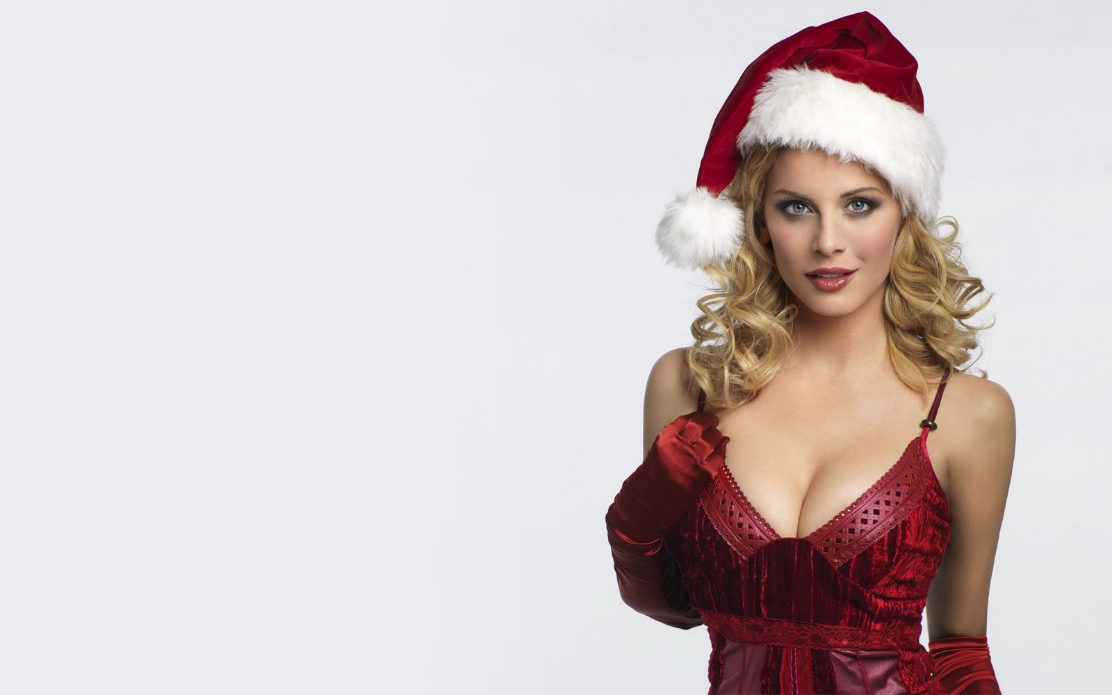 Female celebrity christmas wallpapers