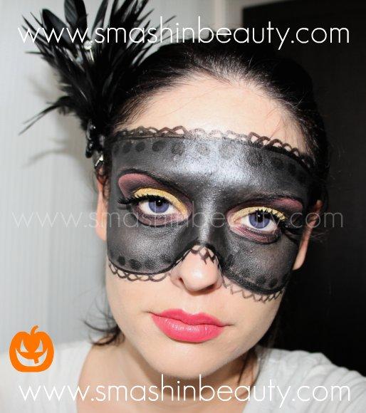 Venetian Mask Halloween Makeup Tutorial | SMASHINBEAUTY