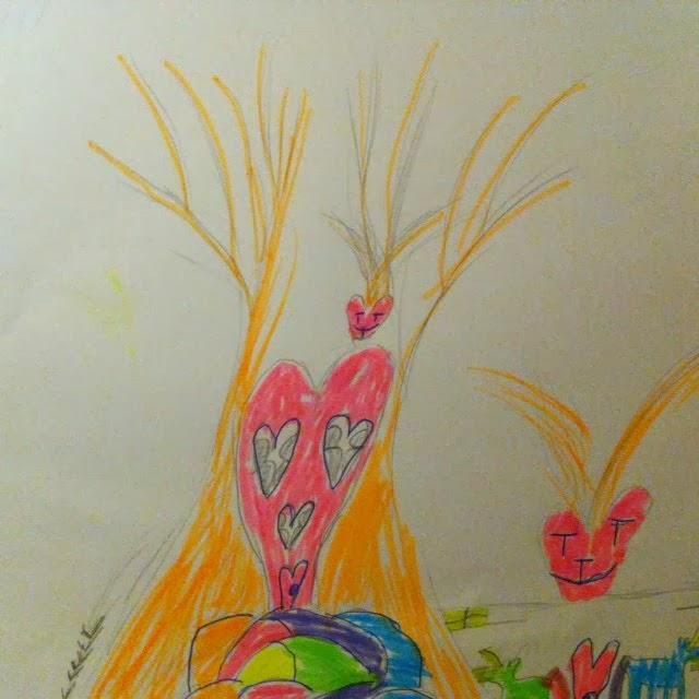 kinderen tekenen de tuin