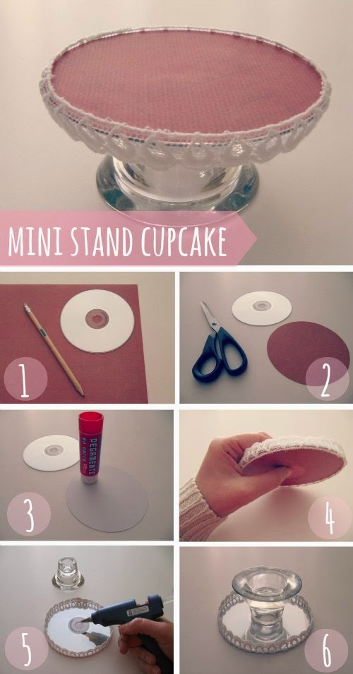Paso a paso DIY mini stand para cupcakes