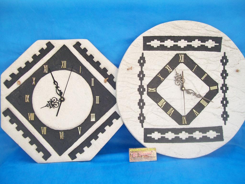 El serrano artesanias reloj de pastapiedra gr - Reloj grande de pared ...