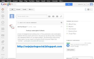 Jejaring sosial Google +