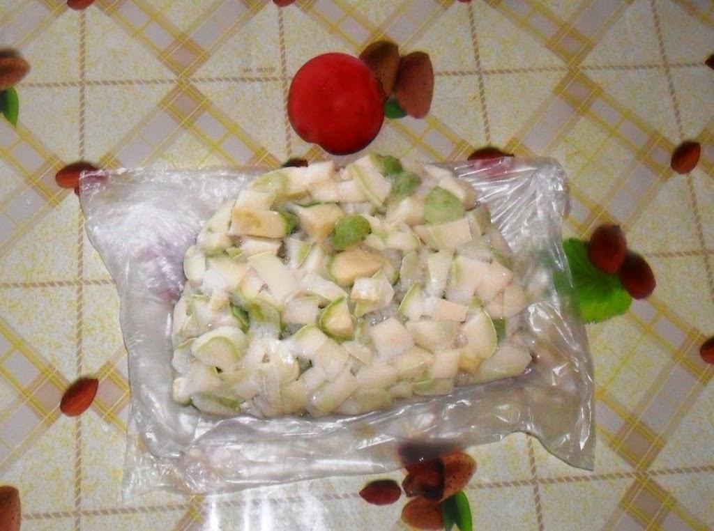 Замороженные патиссоны и помидорка