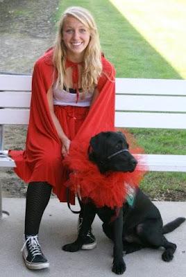 Olivia with Gaston in tutu