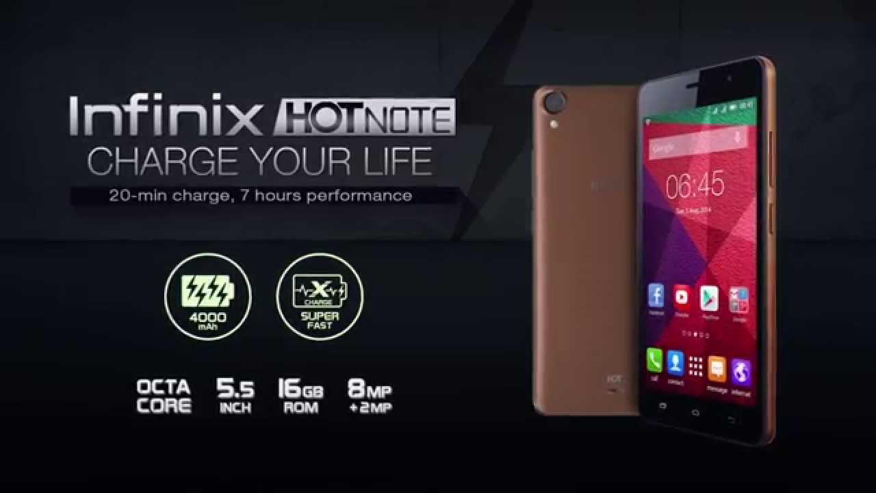 Infinix Hot Note X551 Android Murah Spesifikasi Gahar