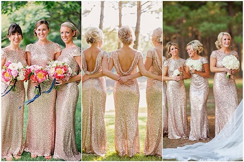 Backless Sequin Long Bridesmaid Dresses