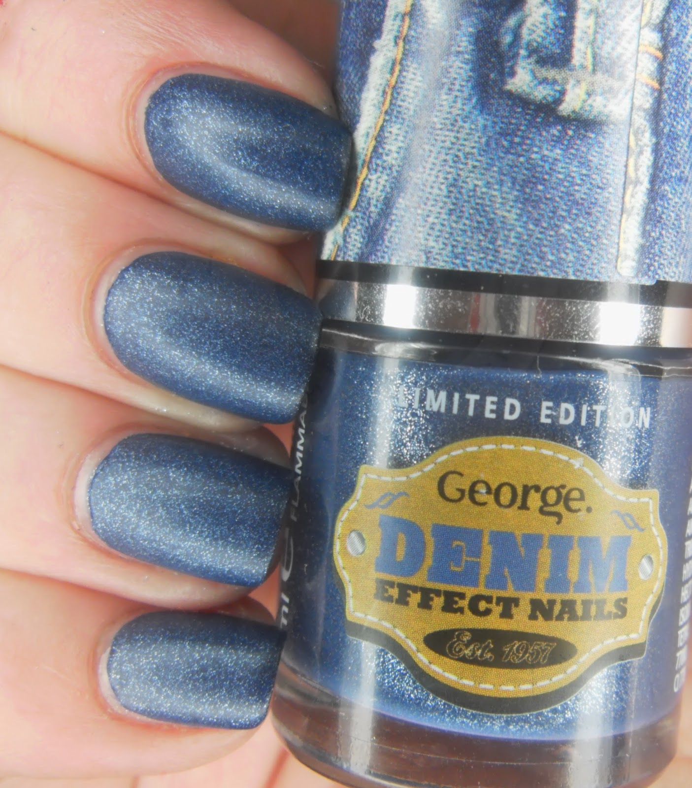SpecialGirl Nails: Denim Effect Nail Polish...From Asda?!