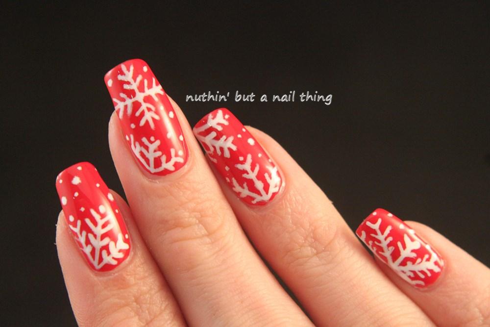 Binky London Nails - Christmas themed nail art