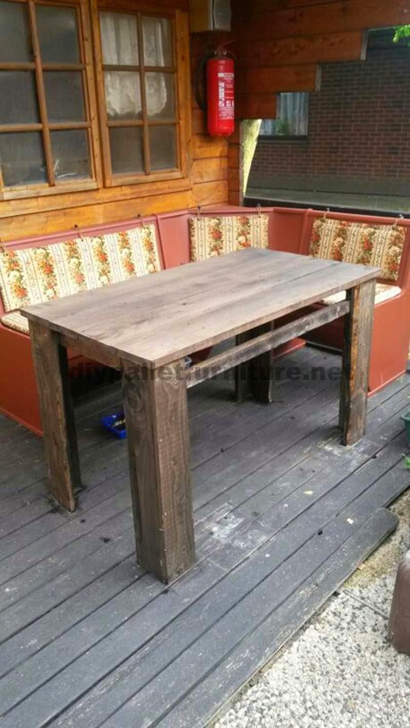 Planos para hacer una mesa con tablas de palets - Mesas de palet ...